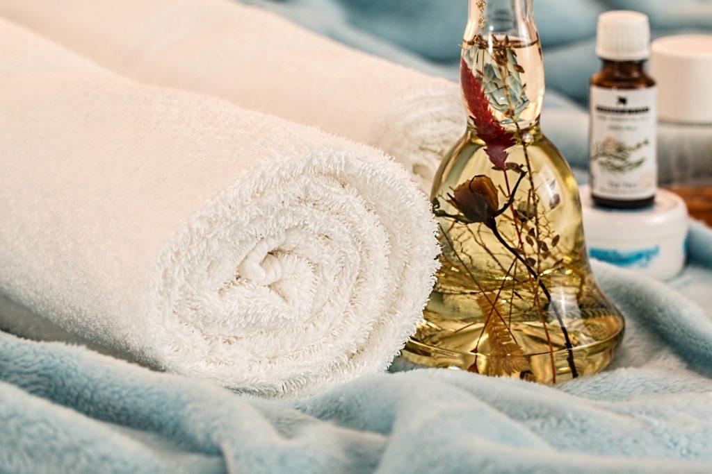 toalla para masaje y SPA